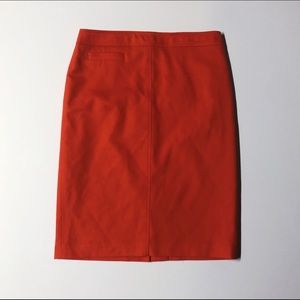 Boden Wool Blend Orange Pencil Skirt